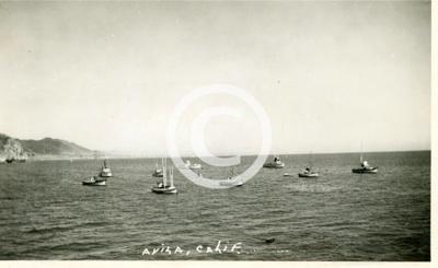 Avila port san luis 1940 avila fishing boats in san luis bay for Avila beach fishing